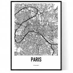 Paris Metro Karta Poster