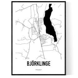 Björklinge Karta Poster