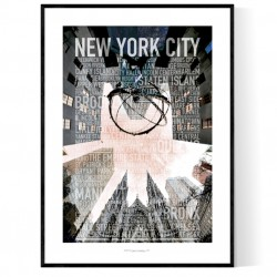 5th Ave Photo Text Poster