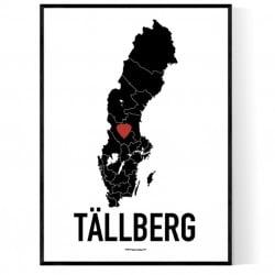 Tällberg Heart Poster