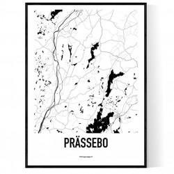 Prässebo Karta Poster