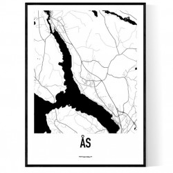 Ås Karta Poster