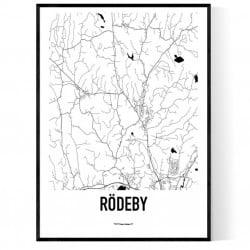Rödeby Karta Poster