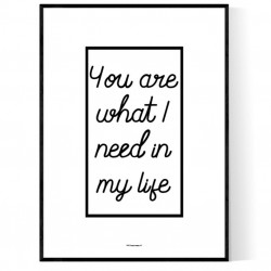 What I Need Poster