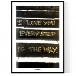 Every Step Gold Poster