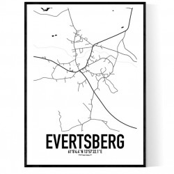 Evertsberg Karta