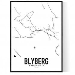 Blyberg Karta Poster