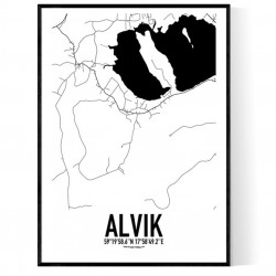 Alvik Karta Poster