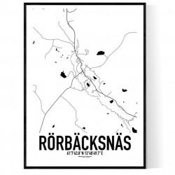 Rörbäcksnäs Karta Poster