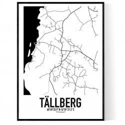 Tällberg Karta Poster
