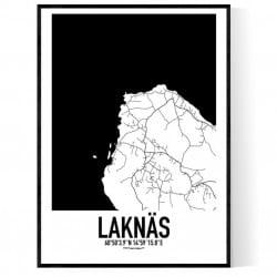 Laknäs Karta Poster