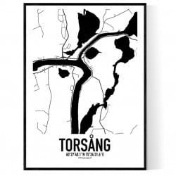 Torsång Karta Poster