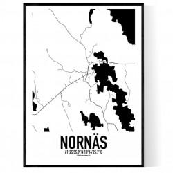 Nornäs Karta Poster