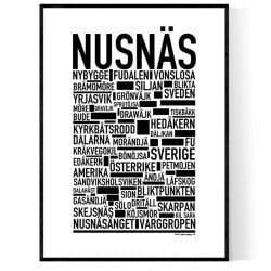 Nusnäs Poster