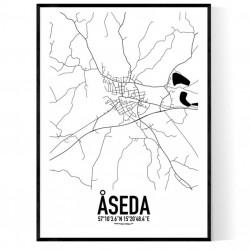 Åseda Karta Poster