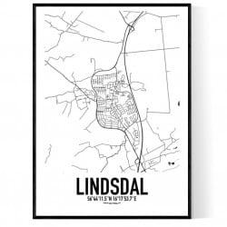 Lindsdal Karta
