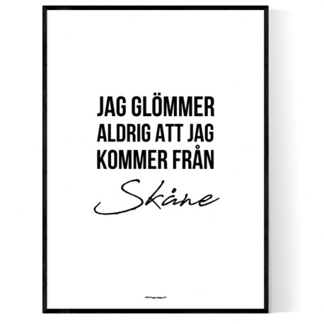 Från Skåne