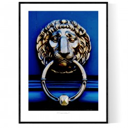 Paris Lion Face Poster