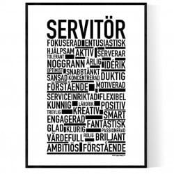 Servitör Poster