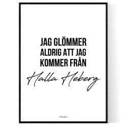 Från Halla Heberg