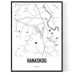 Hanaskog Karta