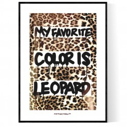 Leopard Hand Poster