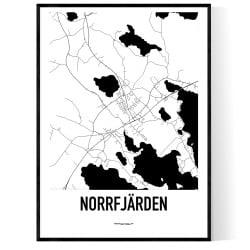 Norrfjärden Karta