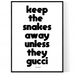 Snakes Away Poster