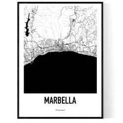 Marbella Karta 2 Poster