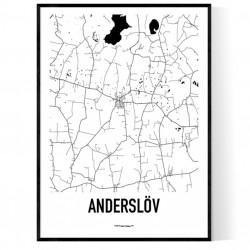 Anderslöv Karta Poster