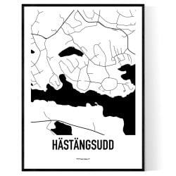 Hästängsudd Karta