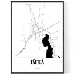 Täfteå Karta