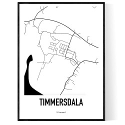 Timmersdala Karta