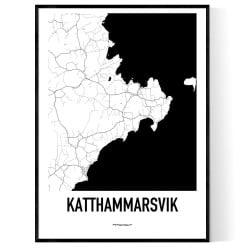 Katthammarsvik Karta