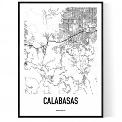 Calabasas Karta Poster