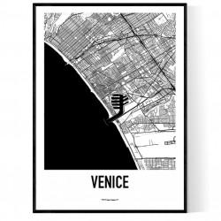 Venice CA Map Poster