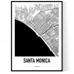 Santa Monica Karta Poster