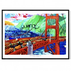 Golden Gate Pattern Poster
