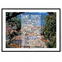 Saint-Tropez Photo Text Poster