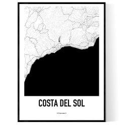 Costa del Sol Karta Poster