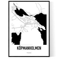 Köpmanholmen Karta