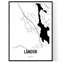 Långvik Karta