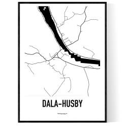 Dala-Husby Karta