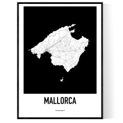 Mallorca Karta 2 Poster