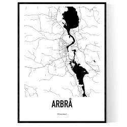 Arbrå Karta