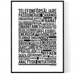 Telefonförsäljare Poster