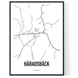 Häradsbäck Karta