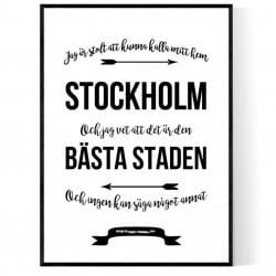 Mitt Hem Stockholm Poster
