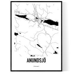 Anundsjö Karta