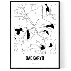 Backaryd Karta